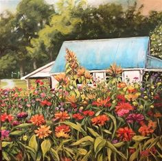 "Daily Paintworks - ""Little Store at Renfrow Farm"" - Original Fine Art for Sale - © Debbie Yacenda"