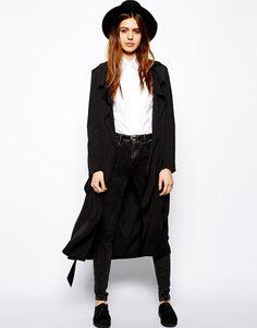 Black + White + Wide Brim Hat