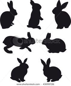 Fantastic rabbits in vector format