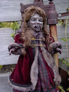Holiday Zombies Don't Wear Hats Scary Art Doll Margery. $135.00, via Etsy.
