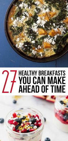 Tasty healthy and fast! It's like having a spa chef cook your breakfast. 27 Make-Ahead Breakfasts That Are Actually Good For You