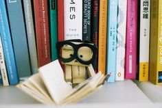 danbo loves to read! Sweetest thing EVER!!!!!