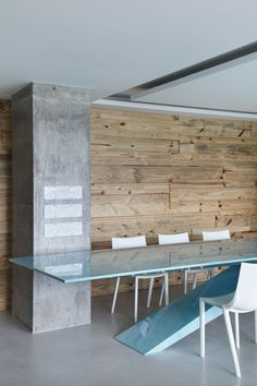 love the concrete & timber combination :-)  RL House by Studio Guilherme Torres