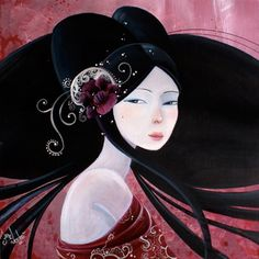 June Leloo is a painter and illustrator from France. Her paintings usually depict women. The women represented are sensual, even kindly erotic but still they are mysterious and have an air of melancholy.