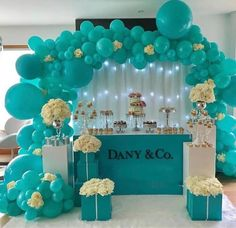 Image in ballon 🎈 🎊 collection by princess Rose Tiffany Birthday Party, Tiffany Party, Birthday Party Themes, Happy Birthday, Tiffany E Co, Tiffany Theme, Azul Tiffany, Baby Shower Themes, Baby Shower Decorations