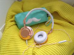 Pencil case from typo and headphones for Christmas