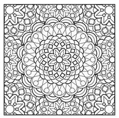 Mandala Art Adult Coloring Page
