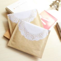 Cowhide paper lace decoration paper bubble envelope jewelry packaging bag zakka vintage packaging box accessories small on AliExpress.com. $2.17