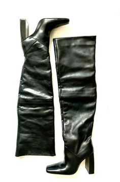 Zara leather Long over knee boots Real leather ZARA very high boots Leather High Heel Boots, Heeled Boots, Knee High Heels, Zara New, Zara Shoes, Over The Knee Boots, Real Leather, Ebay, Things To Sell