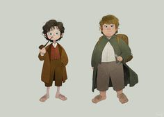 Frodo and Sam Lord of the rings