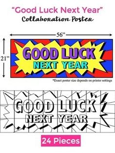 """End of the Year Activities: FREE """"Good Luck Next Year"""" Col"""