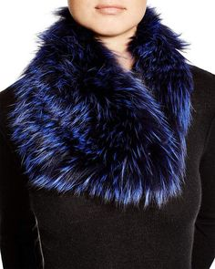 Badgley Mischka Fox Fur Infinity Scarf In Midnight Fur Accessories, Scarf Jewelry, Badgley Mischka, Fox Fur, Womens Scarves, Fur Coat, Infinity, Dresses, Style