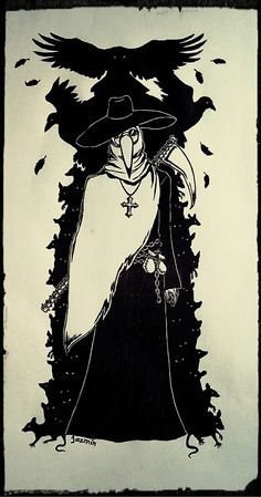 Plague Doctor by Jazmin-Negro.deviantart.com on @DeviantArt