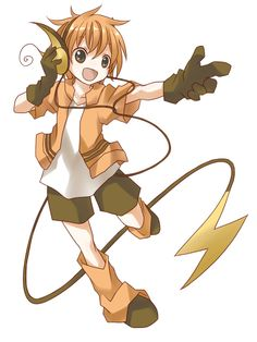 Pokemon Raichu - I seriously love it when they cross humans with pokemon. Seriously.