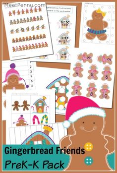 *FREE* Gingerbread Man Printable Pack