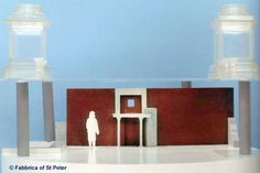 Part three of this series takes us right into the Apostle's Tomb under Saint Peter's Basilica and we examine if it's the real one. Wooden Table Diy, Diy Table, St Peters Basilica, Saints, Model, Painting, Rome, Scale Model