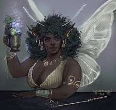 "bipolydivine: ""solarpunkandtea: ""naznemati: ""(CLOSED) Gold Magic ~Fae~ by NazNemati "" I adore this. It is so beautiful. Black Girl Art, Black Women Art, Black Girl Magic, Art Girl, Black Characters, Fantasy Characters, Character Portraits, Character Art, Rwby"