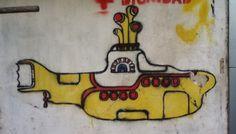 Yellow Submarine. Stencil en San Miguel de Tucumán, Argentina