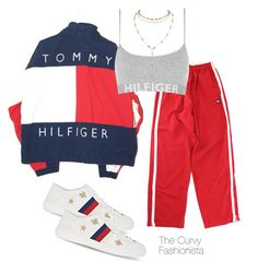 """Untitled #1071"" by thecurvyfashionistaa ❤ liked on Polyvore featuring Tommy Hilfiger and Gucci"