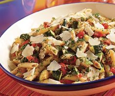 Warm Pasta Salad with Grilled Tomatoes, Zucchini & Pecorino by Fine Cooking