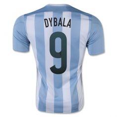 2015 Argentina Soccer Team Home Dybala  9 Replica Jersey 2015 Argentina  Soccer Team Home Dybala  9 Soccer jerseys 0cdc43dc8