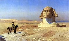 Egypt , Old Cairo Paintings: Jean-Léon Gérôme - Bonaparte Before the Sphinx - 1867-1868