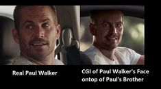 Furious 7 created a digital Paul Walker to complete the movie, The fake is chillingly real