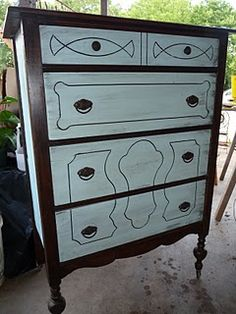 two toned painted dresser <3