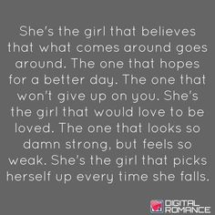 Don't lose this girl.