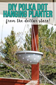 DIY Polka Dot Planter From The Dollar Store - thecraftpatchblog.com
