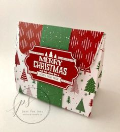 Gift bag perfect for a holiday treat or small gift using the Labels of Love stamp set and the Gift Bag Punch Board from Stampin' Up!