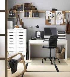 40 Most Stylish Home Office Space and Design Ideas Will Inspire You Home Office Idea Style And Inspiration. You won't mind getting work done with a home office like one of these. See these inspiring photos for the best decorating and design ideas. Home Office Space, Office Workspace, Home Office Design, Home Office Decor, Home Design Decor, Diy Home Decor, Interior Design, Design Ideas, Office Ideas