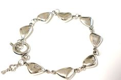 Silver Pebble Bracelet Link Bracelet with Toggle by Links & Locks, $22.00