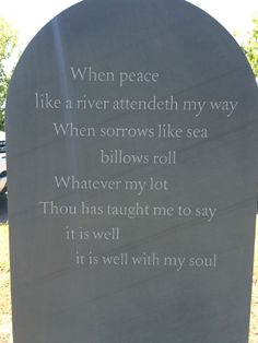 Interpretive signs in burial ground should look like headstones.  Maybe a trail of them.