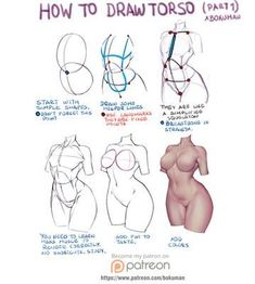 Drawing Female Body, Body Reference Drawing, Human Anatomy Drawing, Art Reference Poses, Anatomy Reference, Drawing Tips, Body Drawing Tutorial, Body Tutorial, Anatomy Tutorial