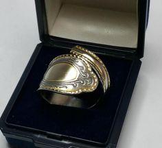 Nostalgischer Silberring Goldglanz 21,8 mm SR580 von Atelier Regina  auf DaWanda.com