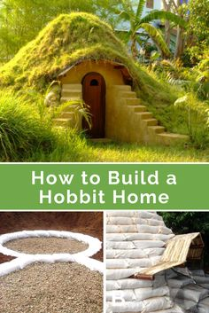 How to Build a Hobbit Home - He stacks piles of earth bags in his backyard. When we see the after picture? This is SO amazing: