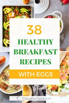 A compilation of healthy breakfast recipes with eggs so that you won't ever get bored of eating eggs for breakfast, lunch or dinner. Potato And Egg Breakfast, Salmon Breakfast, Clean Breakfast, Egg Recipes For Breakfast, Delicious Breakfast Recipes, Healthy Breakfast Recipes, Brunch Recipes, Breakfast Ideas, Vegetarian Recipes