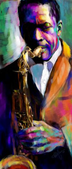 The Might Trane Painting by Charlene Cooper