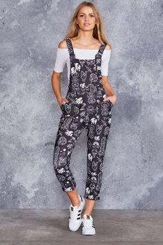Flash Monsters Black Overalls - LIMITED