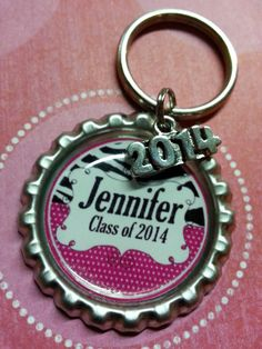 ON SALE! Personalized Graduation Class of 2014 Limited 2014 Charms available so order today!   Bottle Cap Keychain or Zipperpull by racikennedy, $4.25