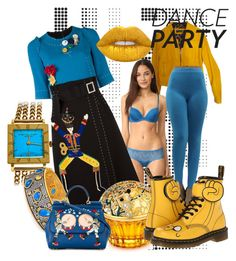 """""""DANCE PARTY"""" by miha-jez ❤ liked on Polyvore featuring Dolce&Gabbana, Calvin Klein Underwear, House of Sillage, Dr. Martens, Audemars Piguet, Freida Rothman and Lime Crime"""