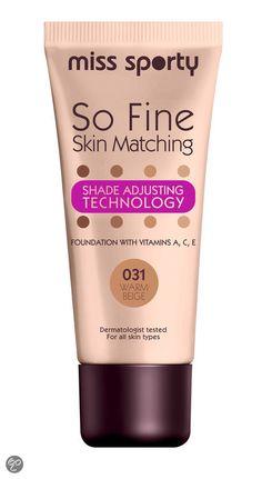 Miss sporty So Fine Skin Matching Foundation   031 Warm Beige http://www.onlinemakeup.nl/miss-sporty-so-fine-skin-matching-031-warm-beige