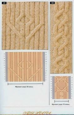 """Photo from album """"Узоры спицами on Yandex. Cable Knitting Patterns, Knitting Charts, Lace Knitting, Knitting Stitches, Knit Patterns, Stitch Patterns, Knit Crochet, Knitting Projects, Projects To Try"""