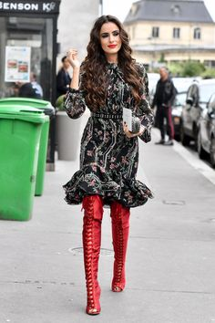 20 Street Style Looks Directly from Paris Fashion Week #overtheknee Lucea Row