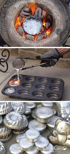 Melting Aluminum Cans With $20 Homemade Mini Metal Crucible