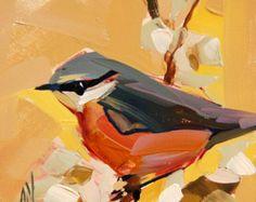 Western Tanager no. 12 Bird Art Print by Angela by prattcreekart