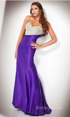 Sheath Satin Sweetheart Long Dress