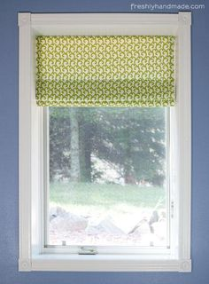 DIY Roman Shades: DIY Roman Shade  This is the best tutorial I've seen for Roman Shades.
