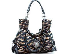 Zebra Print Shoulder Bag Purse Free Ship $49.00